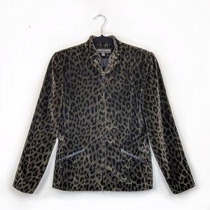 Kasper | Cheetah Print Vintage Sports Blazer